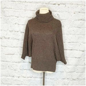 Cynthia Rowley Brown 100% Cashmere Sweater